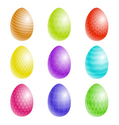 easter eggs with a texture vector image