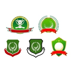 Golf sport icons emblems and signs vector image