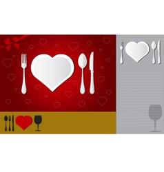 Menu of love vector image vector image