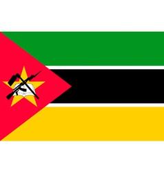 Mozambican flag vector image vector image