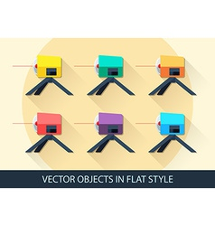 Set of leveling in a flat style with shadow vector image vector image