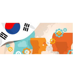 south korea concept of thinking growing innovation vector image vector image