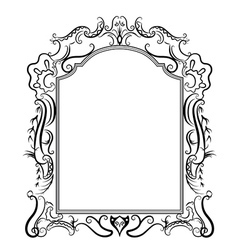 stylized baroque frame vector image vector image