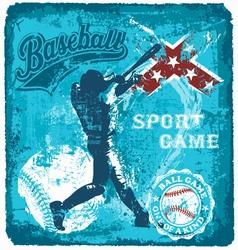 baseball batter sport vector image