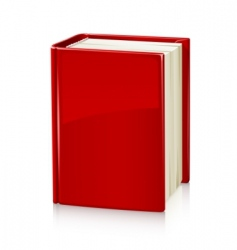 book with red cover vector image