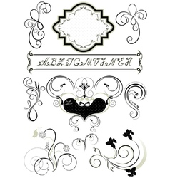 Frames and calligraphic ornaments for feel of page vector image