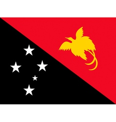 Papua New Guinea flag vector image vector image