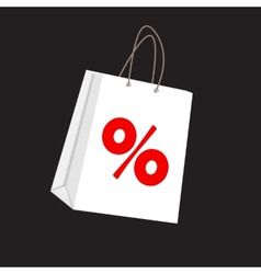 Sale Label on Shopping Bag vector image vector image