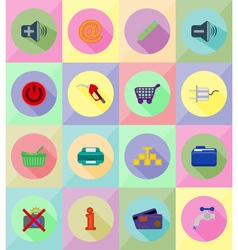service flat icons 39 vector image