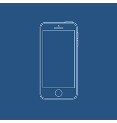 smartphone outline icon in iphone style eps vector image vector image
