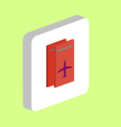 air ticket computer symbol vector image