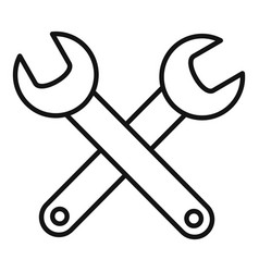 Aircraft repair keys icon outline style vector