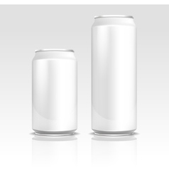 Aluminum energy drink soda beer cans 500 and 330 vector image