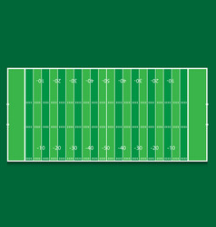 American football field top view green background vector