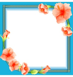 background frame with ornament vector image