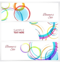 banners set abstract colorful background vector image
