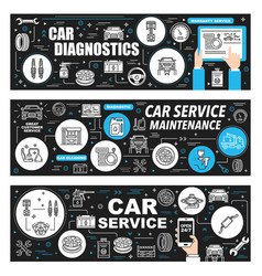 Car diagnostic maintenance auto repair service vector