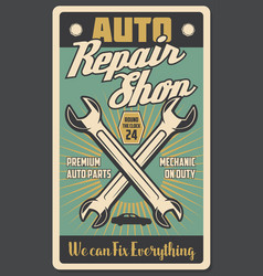 Car repair shop and auto spare rarts vector