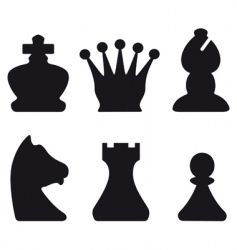 chessmen symbols vector image