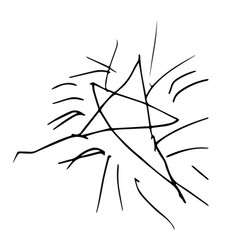 chidish drawing of a star in isolated on white vector image