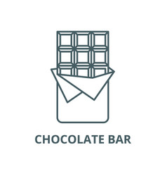 chocolate bar line icon linear concept vector image