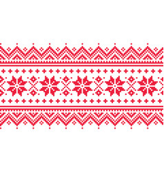 christmas long seamless winter pattern vector image