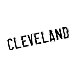 Cleveland rubber stamp vector