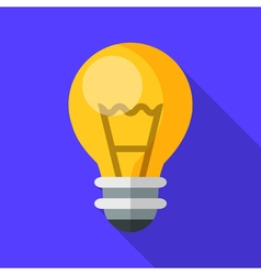 Colorful electric light bulb icon in modern flat vector