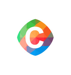 colorful initial c icon vector image
