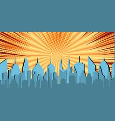 Comic light cityscape concept vector