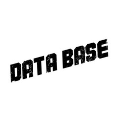 Data base rubber stamp vector