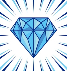 Diamond shine vector