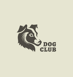 dog club logo vector image