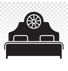 Double bed flat icons for apps or website vector