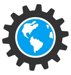 Earth Engineering Icon vector