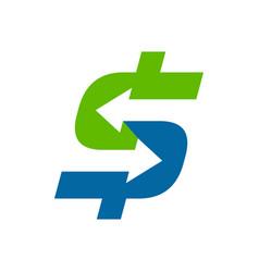 fast money transfer symbol design vector image