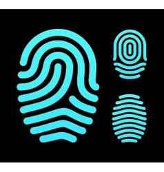 Fingerprint types loop whorl and arch vector
