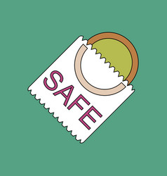 Flat icon design collection safe condom vector