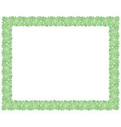 frame made of shamrock vector image