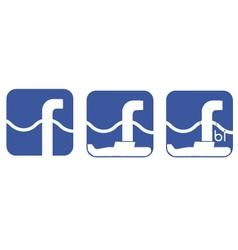 Fun logo on theme interaction between speci vector
