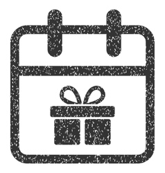 Gift Day Grainy Texture Icon vector
