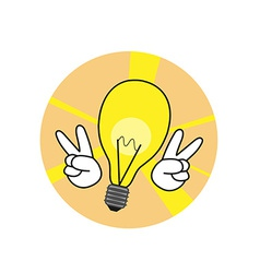 Good idea lamp icon vector