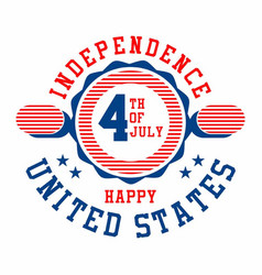 graphic independence day united states vector image