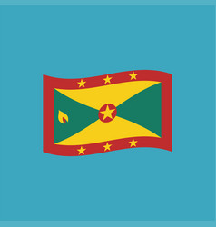 grenada flag icon in flat design vector image