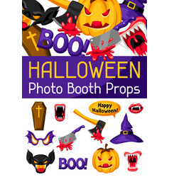 halloween photo booth props accessories vector image
