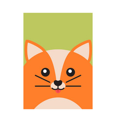 happy fox colorful banner vector image