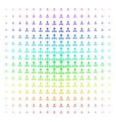 Hierarchy icon halftone spectral pattern vector