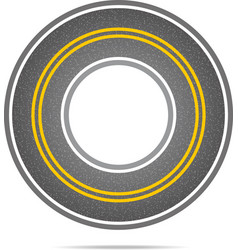 Highway in a circle with asphalt texture vector