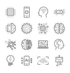 internet of things iot artificial intelligence vector image