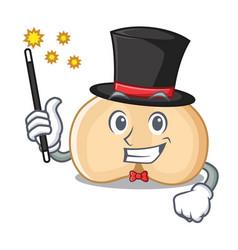 magician chickpeas mascot cartoon style vector image
